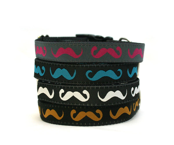 "3/4"" Cool Mustache Dog Collar"