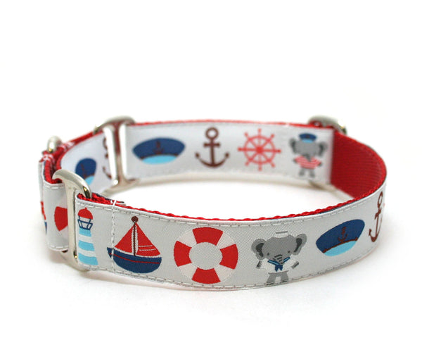 "1"" Anchors Away Dog Collar"