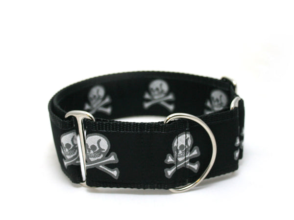 "2"" Jolly Roger Martingale Dog Collar"