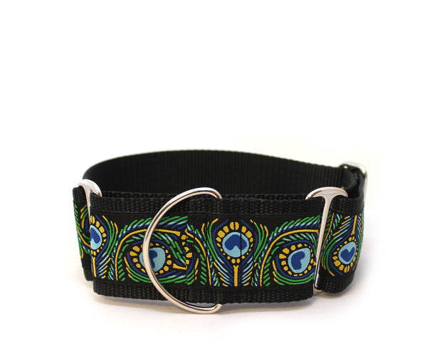 "2"" Royal Peacock Martingale Dog Dollar"