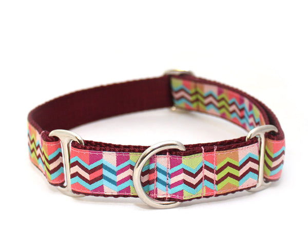 "1"" The Patchwork Girl Dog Collar"