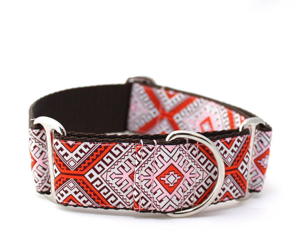 "1.5"" Hotel Budapest Red Dog Collar"