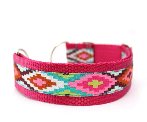 "1.5"" Cayucos Pink Dog Collar"