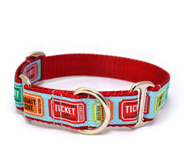 "1"" Ticket to Ride Dog Collar"