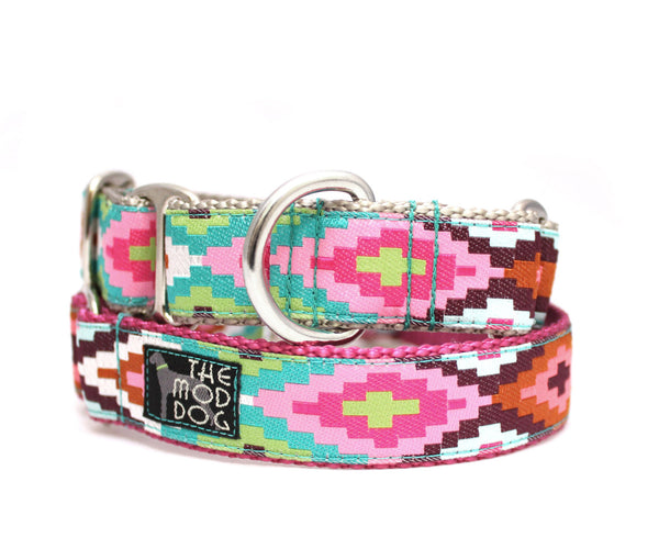 "1"" Cayucos Pink Dog Collar"