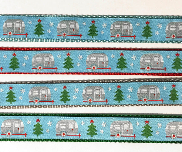 "1"" Christmas Campers Dog Collar"