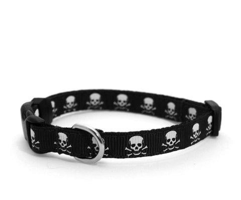 "3/8"" Jolly Roger Jr. tiny dog or cat buckle collar"