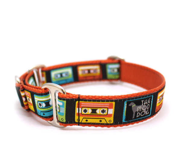 "1"" Mixed Tape Dog Collar"