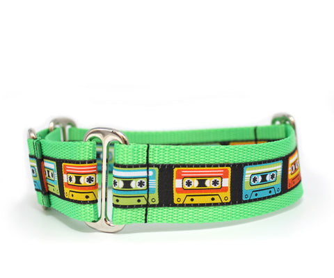 "1.5"" Mixed Tape Dog Collar"
