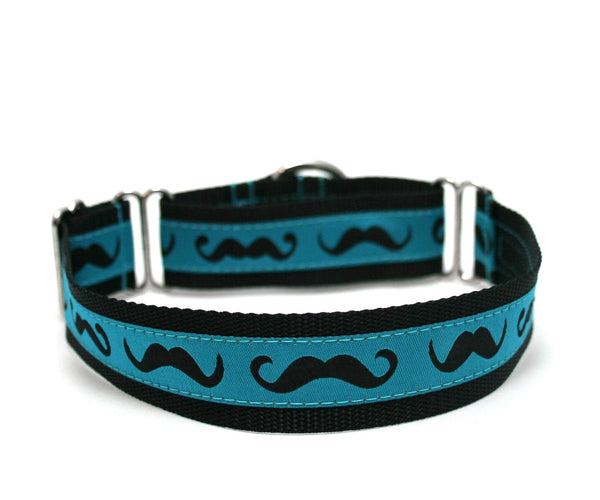 "1"" Cool Mustache Dog Collar"