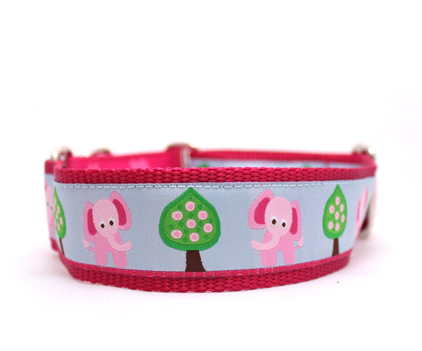 "1.5"" Pink Elephant Dog Collar"
