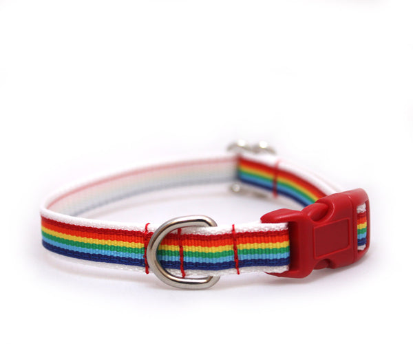 "3/8"" Somewhere....Rainbow Cat Collar"