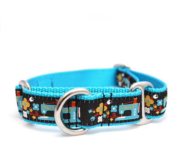 "1"" Sew Many Flowers Dog Collar"