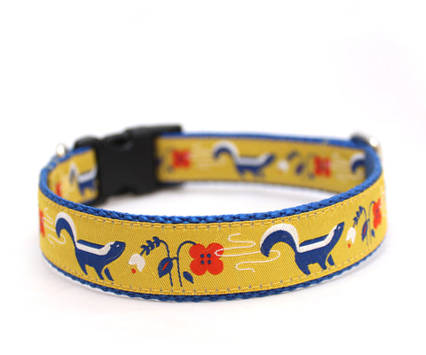 "1"" So Stinkin' Cute Dog Collar ~ Yellow"