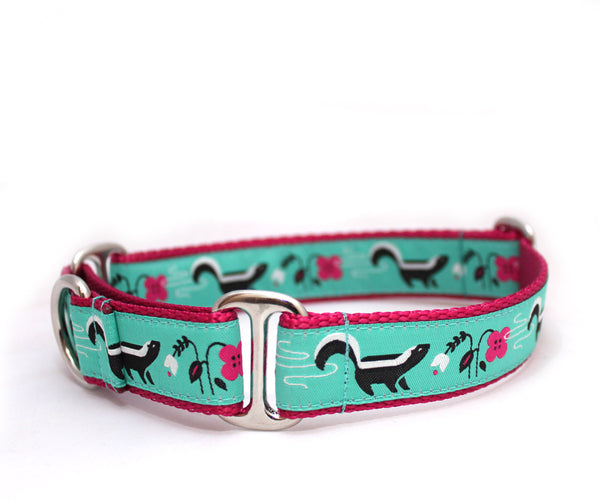 "1"" So Stinkin' Cute Dog Collar ~ Turquoise"
