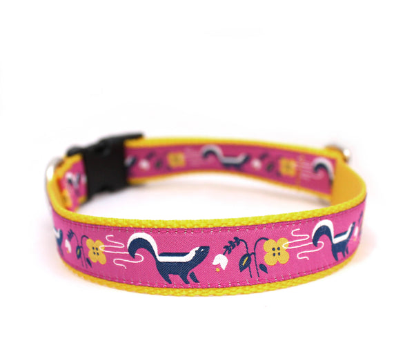 "1"" So Stinkin' Cute Dog Collar ~ Pink"