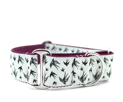 "1.5"" Soulful Swallows Dog Collar"
