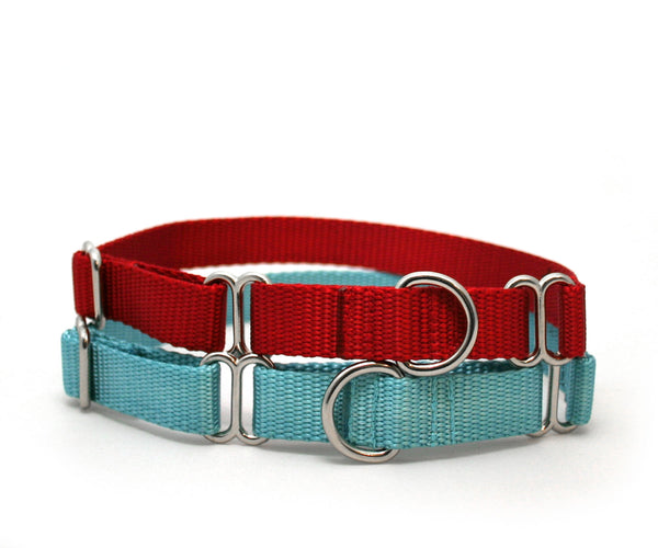 "3/4"" Medium Swan Nylon Dog Collar with ID tag"