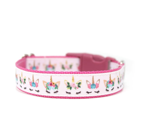 "3/4"" Let's Be Unicorns Dog Collar"