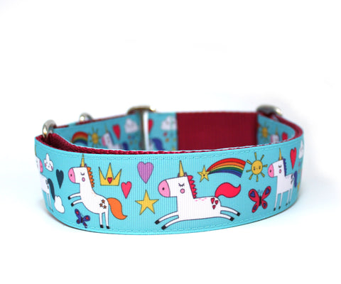 "1.5"" Land of Unicorns Dog Collar"