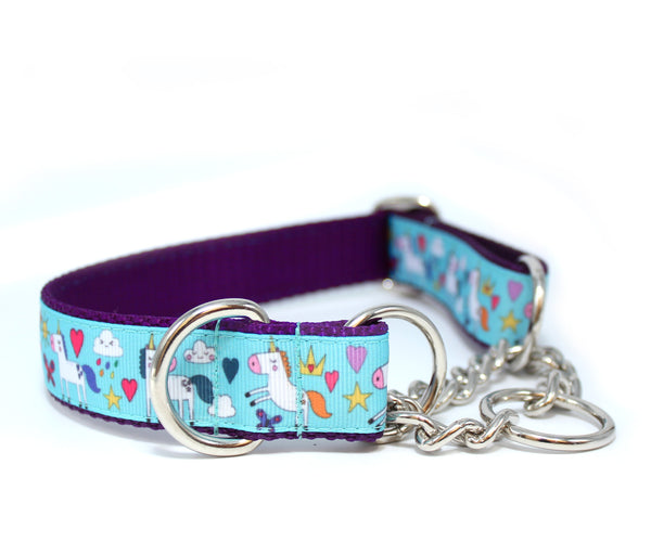 "1"" Land of Unicorns Dog Collar"