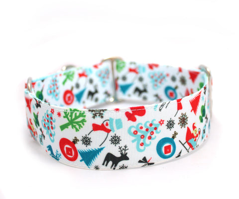 "1.5"" Winter Wonderland Dog Collar"