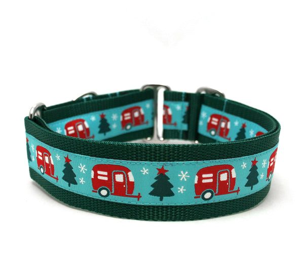 "1.5"" Christmas Campers Dog Collar"