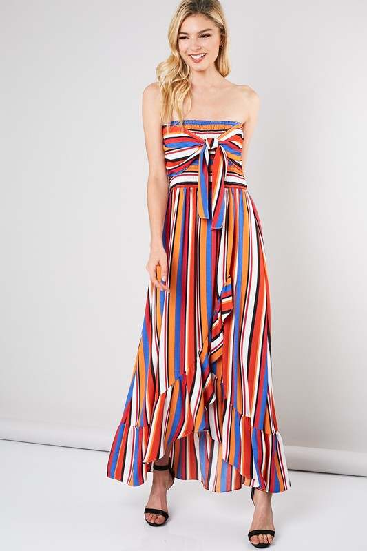 Simply Stunning Smocked Maxi Dress