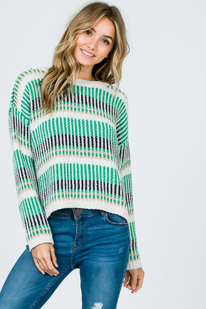 Patterned Chenille Sweater