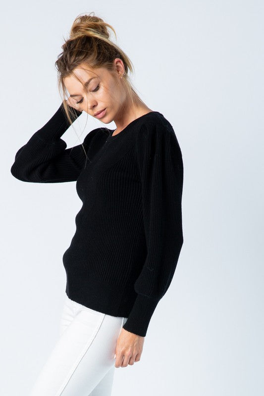 Elle Puff Sleeve Sweater