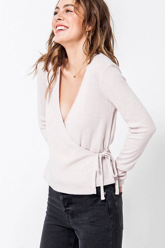 Rosa Surplice Wrap Top