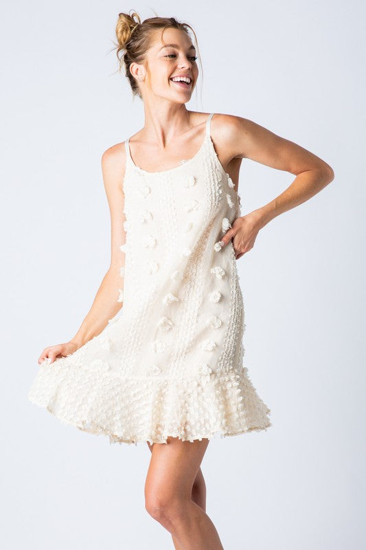Fiona Embellished Pom Dress