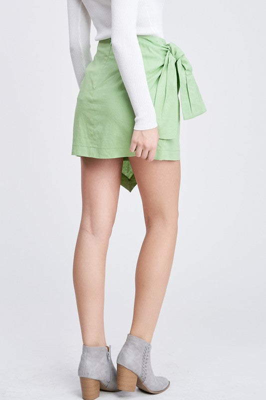 Mischa Lime Mini Skirt