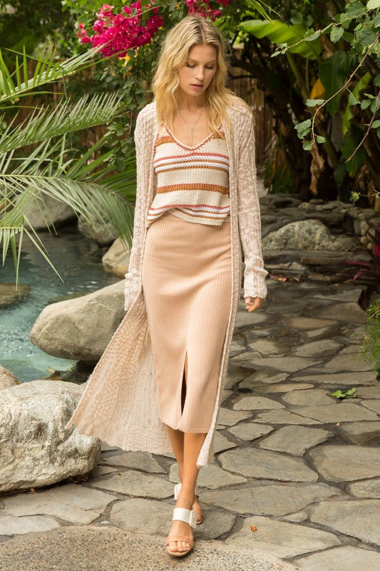 Sweetie Light Knit Maxi Cardigan