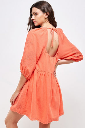 Emma Open Back Babydoll Dress
