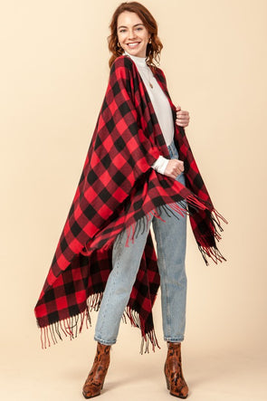 Wonderland Plaid Poncho
