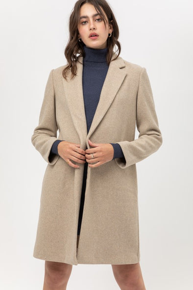 Jay Long Line Fleece Coat