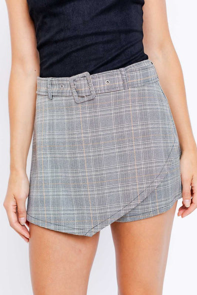 Steph Plaid Skort