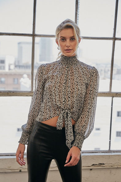 High Neck Hope Top