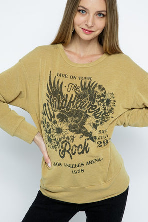 Wildflowers Rock Graphic Top