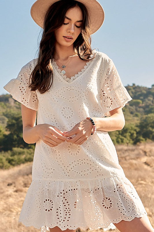 Lindsay Eyelet Drop Mini