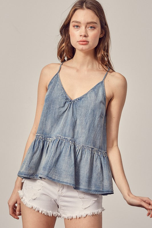 Captiva Denim Top