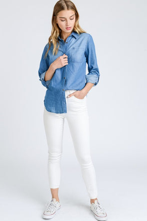 Heather Denim Shirt