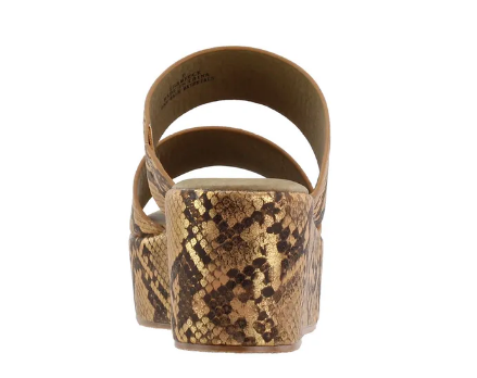 Shamrock Snake Print Wedge