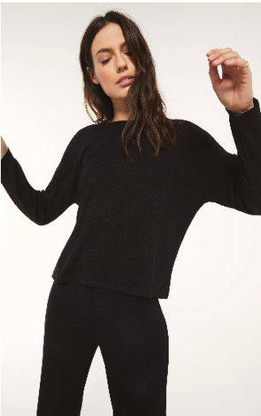 Robbie Rib Long Sleeve Top