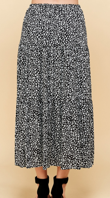 Tiered Cheetah Skirt