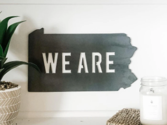PA WE ARE Wall Art Sign