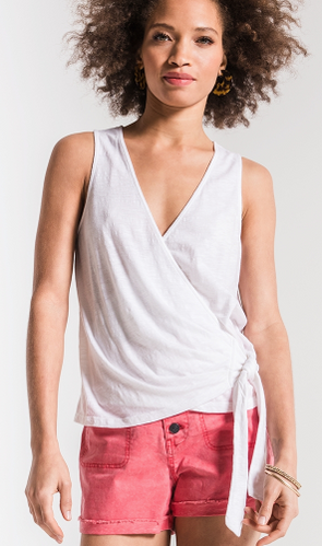The Muse Wrap Tank - White