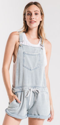 The Knit Denim Shortalls Overalls