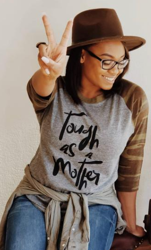 Tough As A Mother Raglan Top